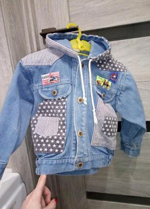 Джинсовая куртка ветровка полоски косуха американка крутая варенка