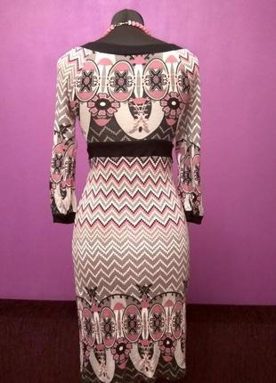Красивое трикотажное платье, размер s, xs2 фото