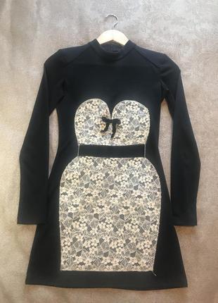 Нарядное мини платье туника tago1 фото