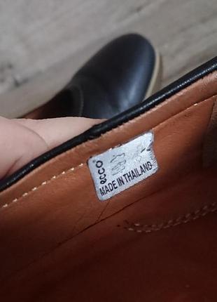 Туфли экко ecco 39 р 6 р 25,5 см кожа на танкетке5