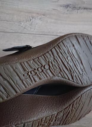 Туфли экко ecco 39 р 6 р 25,5 см кожа на танкетке6