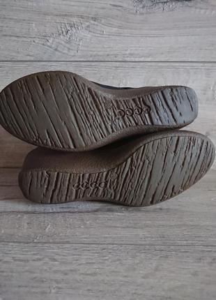 Туфли экко ecco 39 р 6 р 25,5 см кожа на танкетке7