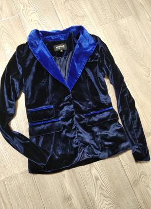 Бархатный велюровый пиджак жакет
