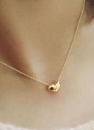 Цепочка с кулоном подвеской сердце1