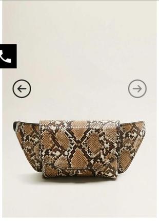 Трендовая поясная сумка принт mango!!3 фото