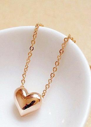 Цепочка с кулоном подвеской сердце3