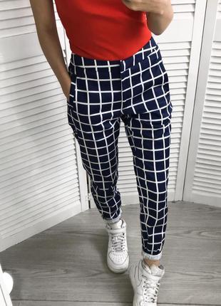 Стильові брюки в клітинку /слаксы2 фото