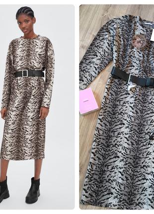Zara шикарное,новое миди платье1