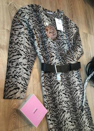 Zara шикарное,новое миди платье3