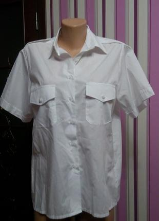 Рубашка белая нарядная 50 52 размер топ лук скидка sale2