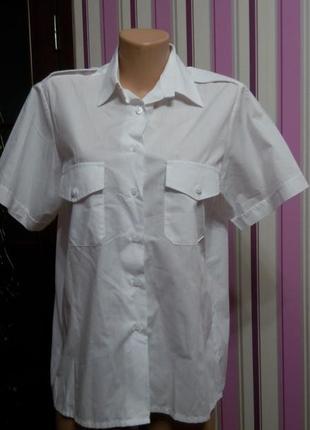 Рубашка белая нарядная 50 52 размер топ лук скидка sale4
