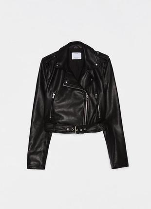 Новая укороченная куртка в байкерском стиле bershka косуха5