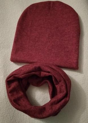 Новый красно-бордовый комплект с ангоры софт, разные цвета