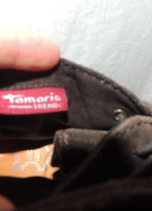 Кожаные удобные комфортные ботинки tamaris 398