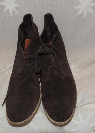 Кожаные удобные комфортные ботинки tamaris 393