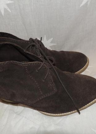 Кожаные удобные комфортные ботинки tamaris 394