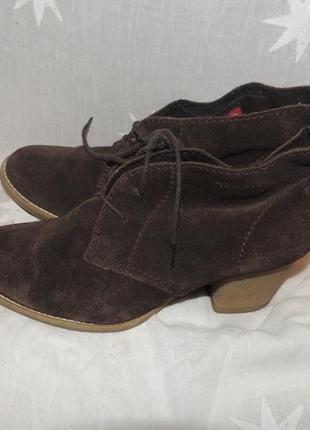 Кожаные удобные комфортные ботинки tamaris 391