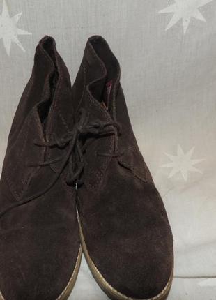 Кожаные удобные комфортные ботинки tamaris 3910