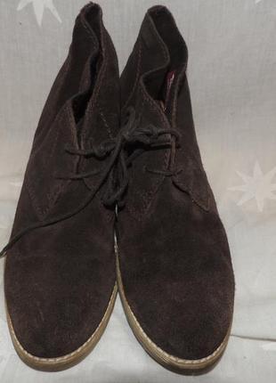Кожаные удобные комфортные ботинки tamaris 392