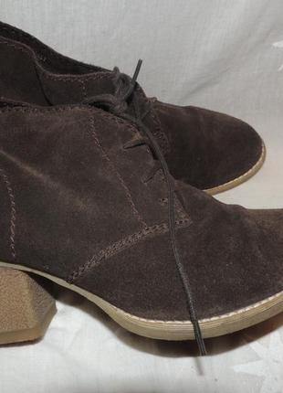 Кожаные удобные комфортные ботинки tamaris 397