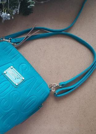 Яскрава та стильна бірюзова сумка2 фото