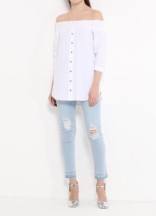 Блуза белая с плечами открытыми zara zara2