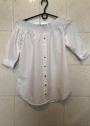 Блуза белая с плечами открытыми zara zara5