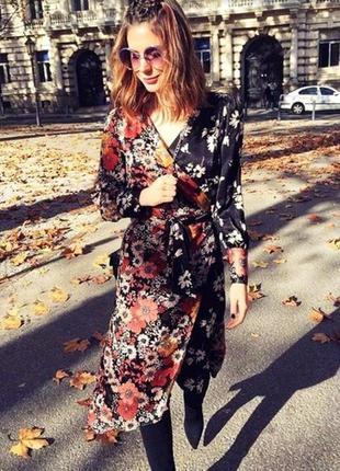 Платье на запах zara1
