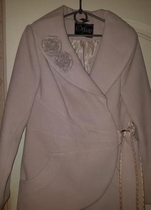 Шикарный пиджак пальто кашемир2 фото