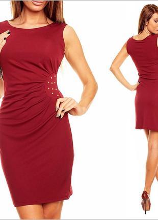 Платье бордового цвета2