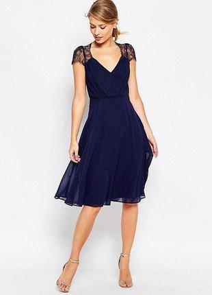 Платье вечерние нарядное с кружевом открытыми плечами boohoo1 фото