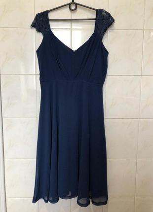 Платье вечерние нарядное с кружевом открытыми плечами boohoo5 фото