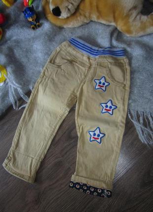 Штаны (джинсы) бежевые рр12-18мес (80-86см)