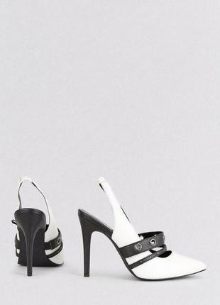 Новые туфли лодочки черно белые new look3
