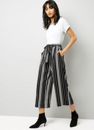 В наличии брюки кюлоты штаны в полоску с ремешком zara zara1