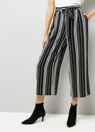 В наличии брюки кюлоты штаны в полоску с ремешком zara zara2