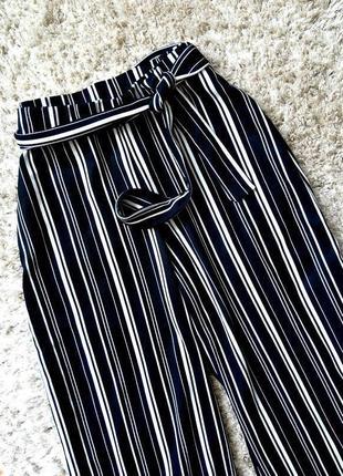 В наличии брюки кюлоты штаны в полоску с ремешком zara zara3