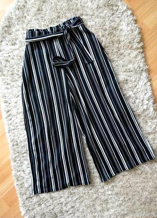В наличии брюки кюлоты штаны в полоску с ремешком zara zara4