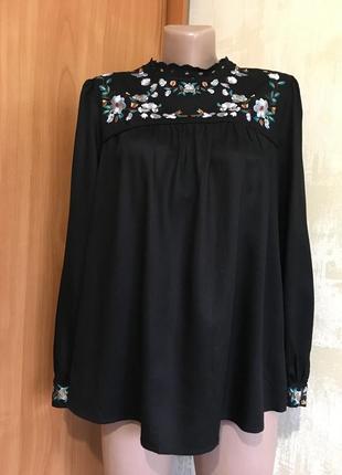 Идеальная блуза с вышивкой,с прошвой,вискоза!1 фото