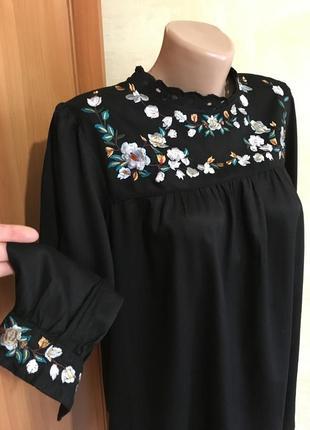 Идеальная блуза с вышивкой,с прошвой,вискоза!2 фото