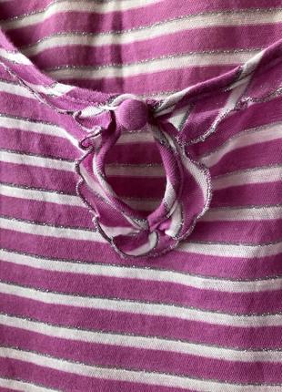 Футболка massimo dutti розово-лилового цвета, размер s3
