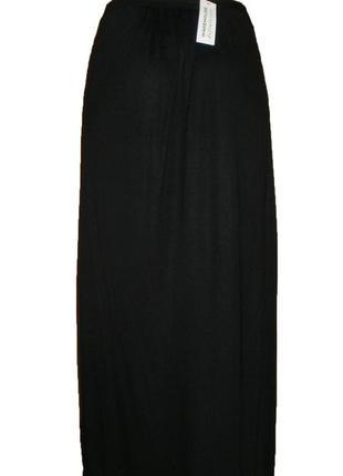 Длинная расклешенная юбка в пол макси с разрезом на запах вискоза размер 10 наш 442