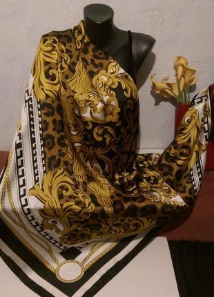 Огромный !платок с узорами полиэстер,140*140см1 фото