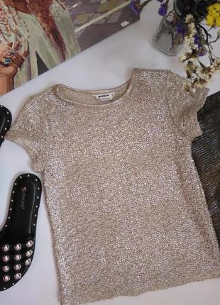Miss selfridge футболка блузка серебряная металлик xxs 32 4 401