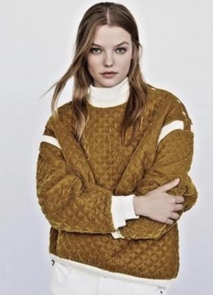 Краствая горчичная кофта свитер оверсайз4