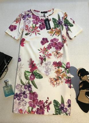 Нарядное платье в цветы1