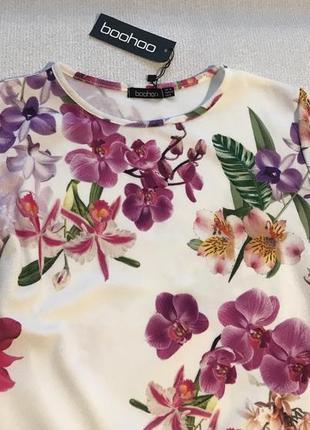 Нарядное платье в цветы2