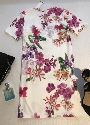 Нарядное платье в цветы3