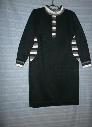 В наличии стильное тёплое платье-52р1