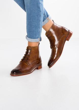 Идеальные кожаные туфли.ботинки.дерби .челси melvin & hamilton1
